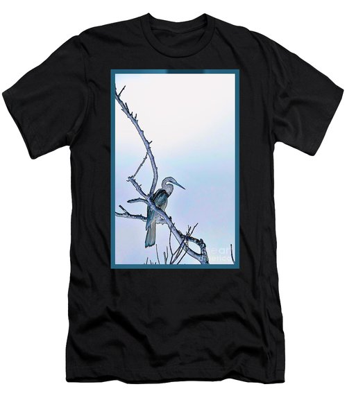Anhinga In Blue Men's T-Shirt (Athletic Fit)