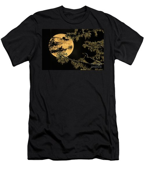 Anhingas In Full Moon Men's T-Shirt (Slim Fit) by Bonnie Barry