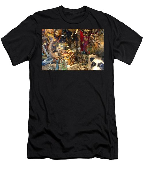 Animal Masks From Venice Men's T-Shirt (Athletic Fit)