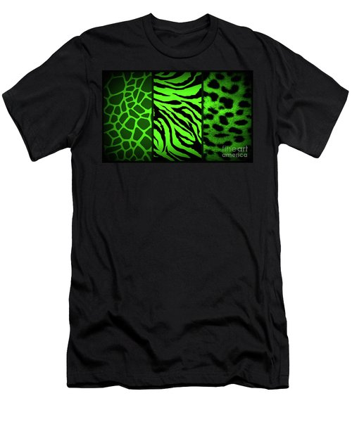 Men's T-Shirt (Athletic Fit) featuring the photograph Animal Prints by Donna Bentley
