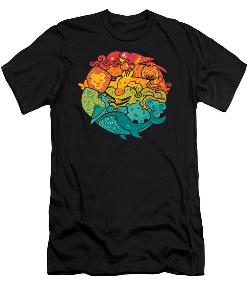 Animals Of The World Men's T-Shirt (Slim Fit) by Craig Carr