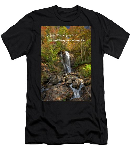 Men's T-Shirt (Athletic Fit) featuring the photograph Anna Rby Falls 3 by Penny Lisowski