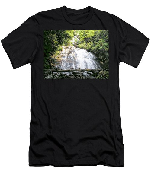 Men's T-Shirt (Slim Fit) featuring the photograph Anna Ruby Falls by Jerry Battle