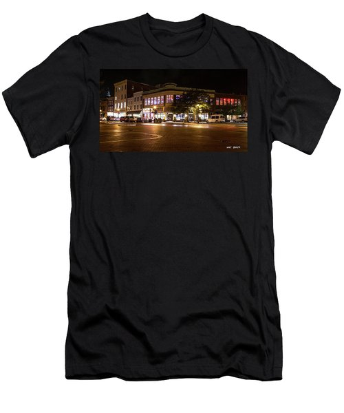 Annapolis At Night Men's T-Shirt (Athletic Fit)