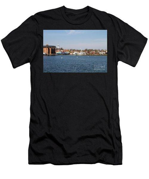 Annapolis City Skyline Men's T-Shirt (Athletic Fit)