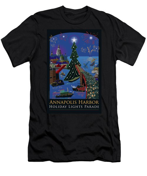 Annapolis Holiday Lights Parade Men's T-Shirt (Athletic Fit)