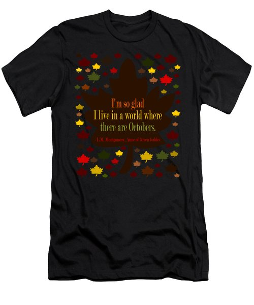 Anne Of Green Gables Quote Men's T-Shirt (Athletic Fit)