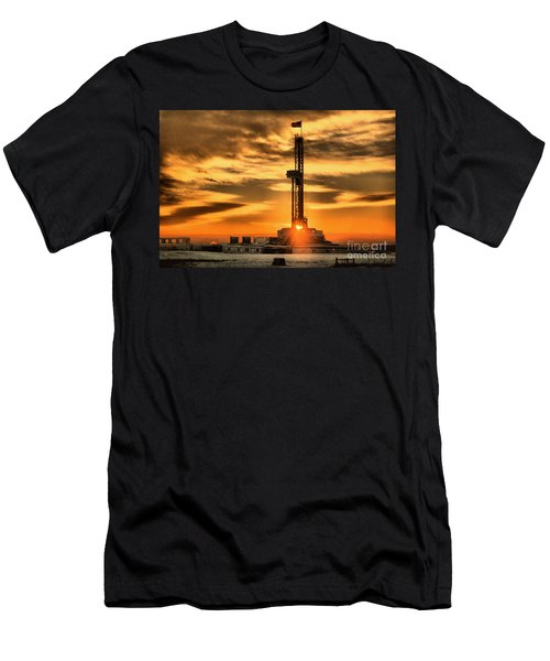 Another Day Of Drilling For American Oil Men's T-Shirt (Athletic Fit)