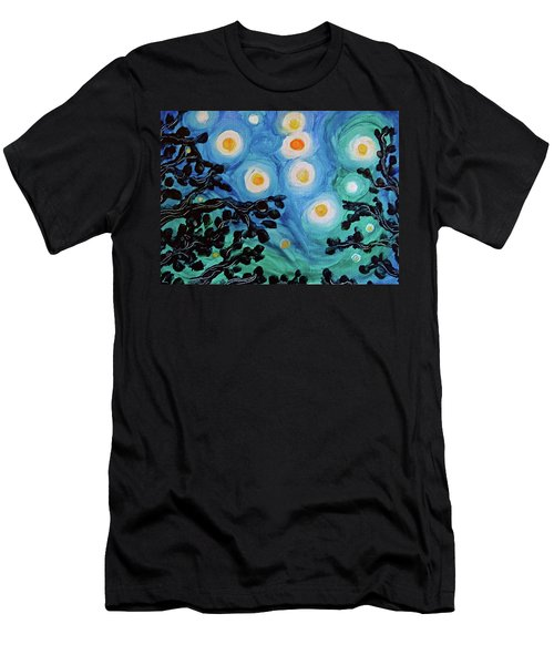Men's T-Shirt (Athletic Fit) featuring the painting Another Starry Night by Michele Myers