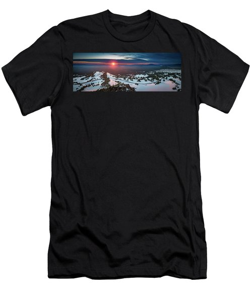 Men's T-Shirt (Athletic Fit) featuring the photograph Another Sunset At Crater Lake by William Lee