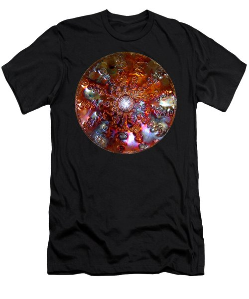 Men's T-Shirt (Athletic Fit) featuring the sculpture Antares Copper Lightmandala by Robert Thalmeier