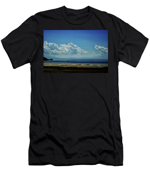 Men's T-Shirt (Slim Fit) featuring the photograph Antelope Island, Utah by Cynthia Powell