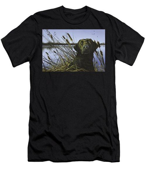 Anticipation - Black Lab Men's T-Shirt (Athletic Fit)