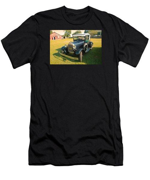 Antique Ford Car Men's T-Shirt (Slim Fit) by Ronald Olivier