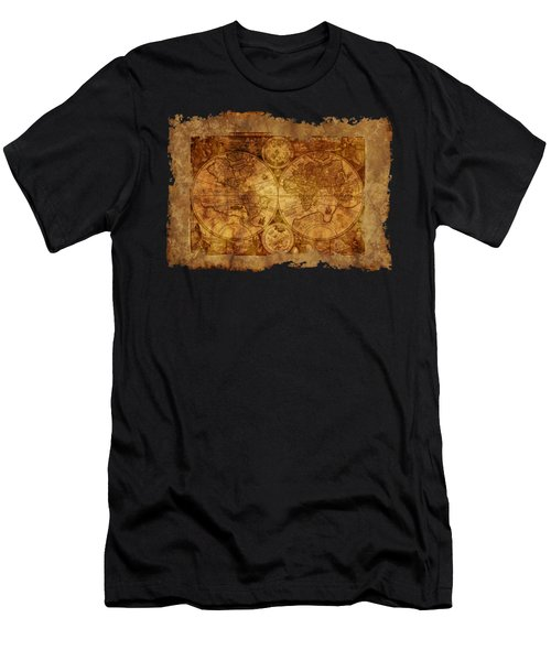 Antique Map Of The World Men's T-Shirt (Athletic Fit)