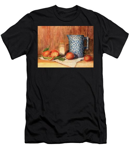 Antique Pitcher With Tangerines Men's T-Shirt (Athletic Fit)