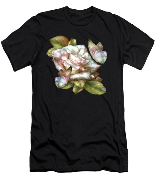 Antique Rose And Butterflies Men's T-Shirt (Athletic Fit)