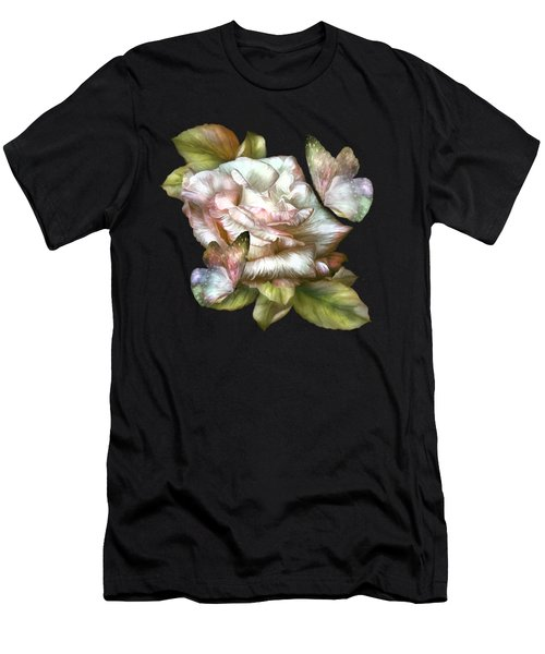 Antique Rose And Butterflies Men's T-Shirt (Athletic Fit)