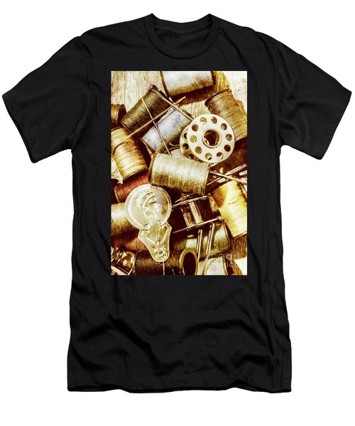 Antique Sewing Artwork Men's T-Shirt (Athletic Fit)