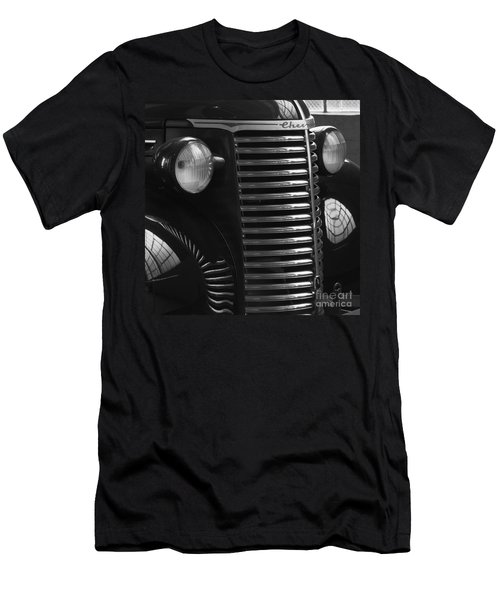 Antique Truck Black And White Men's T-Shirt (Slim Fit) by Wilma  Birdwell