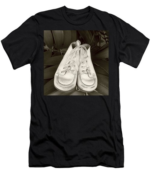Antiqued Baby Shoes Men's T-Shirt (Athletic Fit)