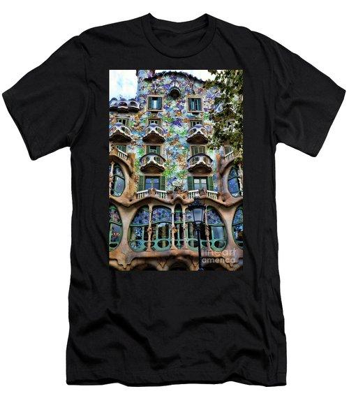 Antoni Gaudi's Casa Batllo Barcelona Spain  Men's T-Shirt (Athletic Fit)