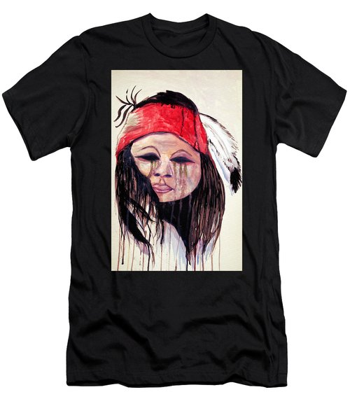 Watercolor Painting Of Apache Tears By Ayasha Loya Men's T-Shirt (Slim Fit) by Ayasha Loya