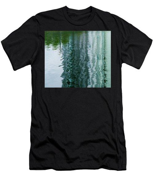 Apartment Building Reflection, Confluence Park, Denver, Colorado Men's T-Shirt (Athletic Fit)