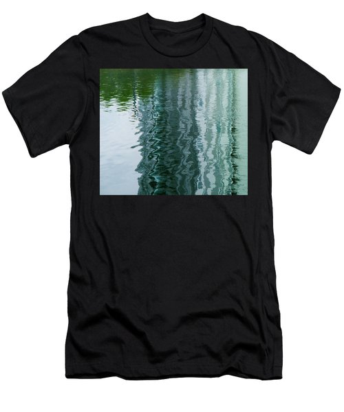 Apartment Building Reflection, Confluence Park, Denver, Colorado Men's T-Shirt (Athletic Fit)