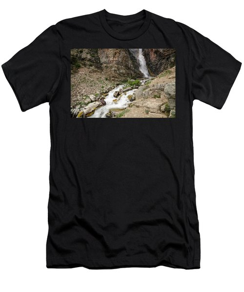 Apikuni Falls Men's T-Shirt (Athletic Fit)