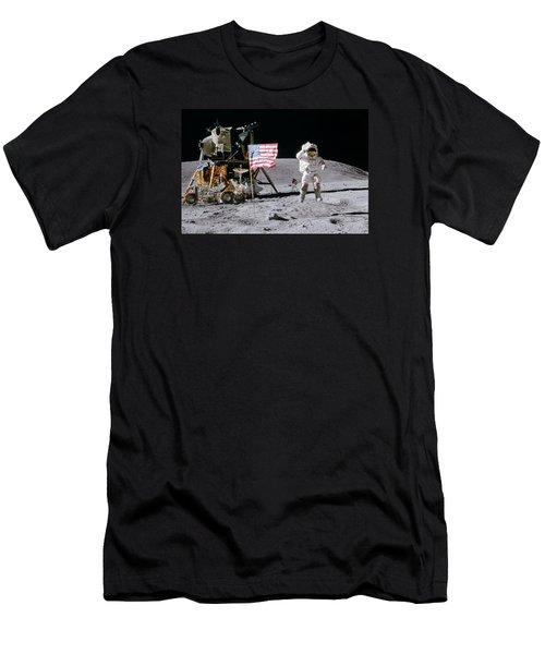 Apollo 16 Men's T-Shirt (Slim Fit) by Peter Chilelli