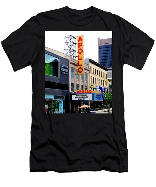 Men's T-Shirt (Slim Fit) featuring the photograph Apollo Theater by Randall Weidner