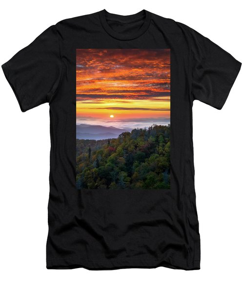 Appalachian Mountains Asheville North Carolina Blue Ridge Parkway Nc Scenic Landscape Men's T-Shirt (Athletic Fit)