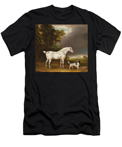 Appaloosa Horse And Spaniel Men's T-Shirt (Athletic Fit)