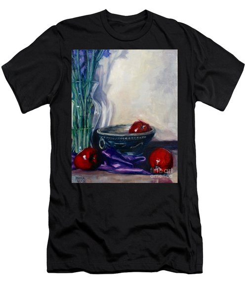 Apples And Silk Men's T-Shirt (Slim Fit) by Rebecca Glaze