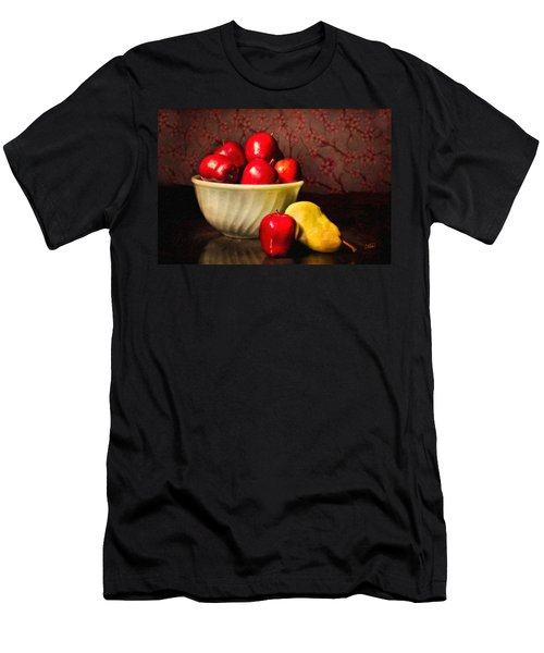 Apples In Bowl With Pear Men's T-Shirt (Athletic Fit)