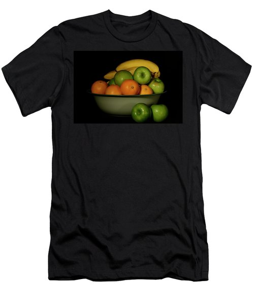 Men's T-Shirt (Athletic Fit) featuring the photograph Apples, Oranges And Bananas 1 by Angie Tirado