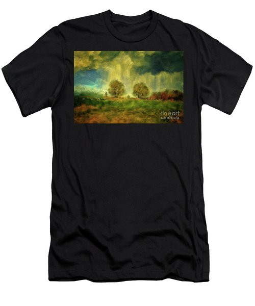 Men's T-Shirt (Slim Fit) featuring the digital art Approaching Storm At Antietam by Lois Bryan