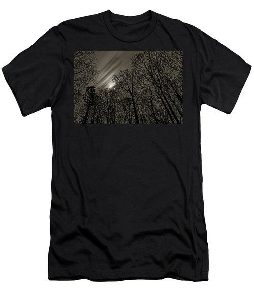 Approaching Storm, Black And White Men's T-Shirt (Athletic Fit)