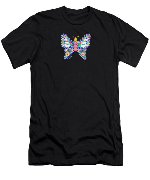 April Butterfly Men's T-Shirt (Athletic Fit)