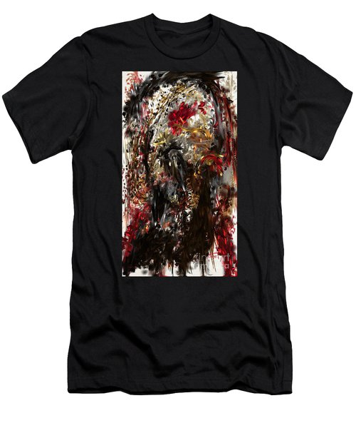 Men's T-Shirt (Athletic Fit) featuring the digital art April Skull by Reed Novotny