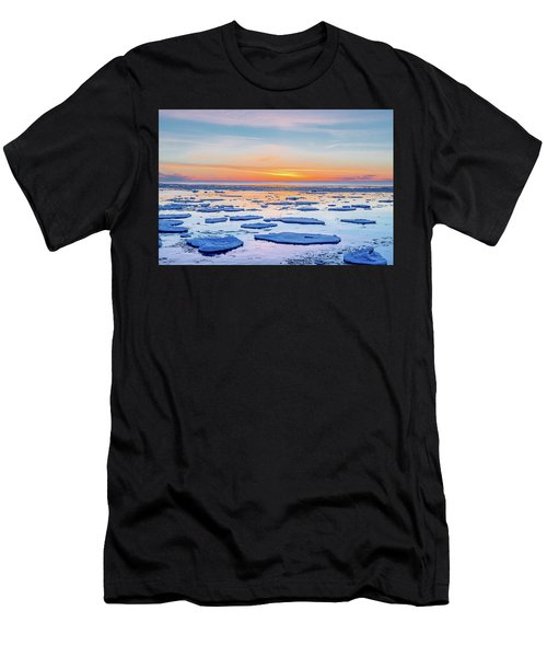 April Sunset Over Lake Superior Men's T-Shirt (Athletic Fit)