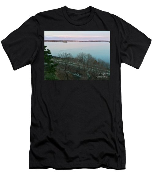April Twilight On Casco Bay Men's T-Shirt (Athletic Fit)