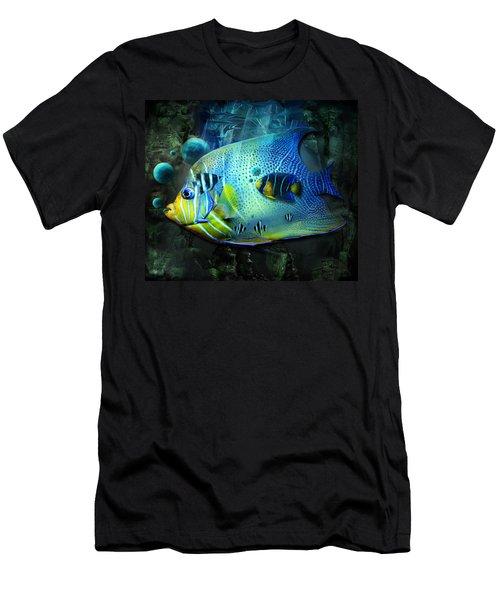 Aqua Fantasy Art World Men's T-Shirt (Athletic Fit)