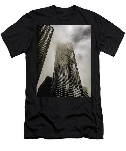 Aqua Skyscraper Men's T-Shirt (Athletic Fit)