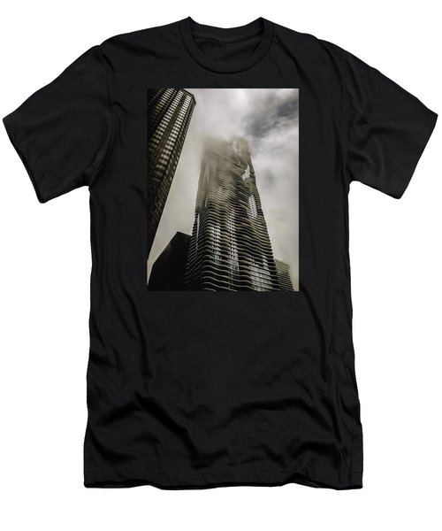 Aqua Skyscraper Men's T-Shirt (Athletic Fit)