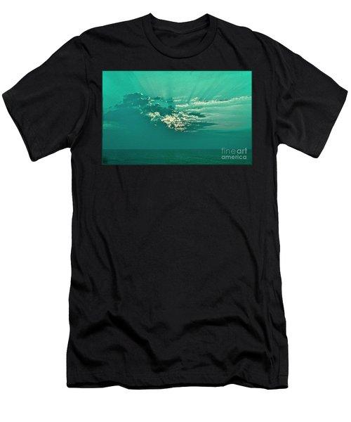 Aqua Sunset Men's T-Shirt (Athletic Fit)