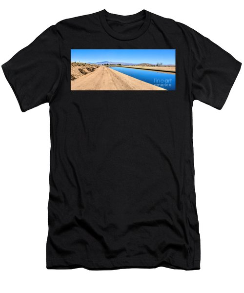 Aqueduct And The Tehachapi Mountains Men's T-Shirt (Athletic Fit)
