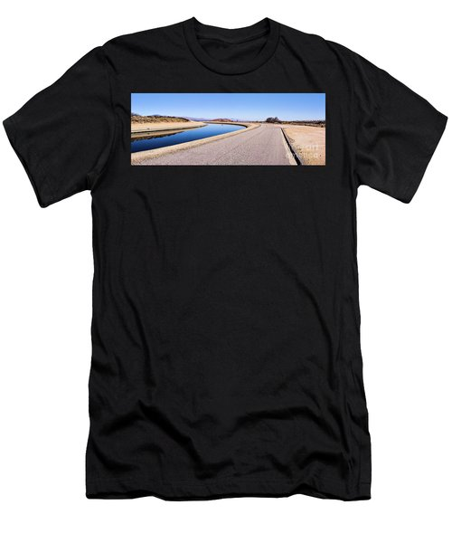 Aqueduct Sharp Turn Men's T-Shirt (Athletic Fit)