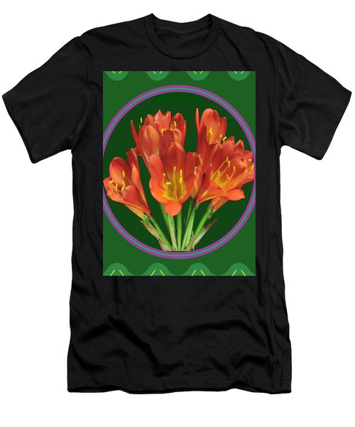 Aquilegia Formosa Flower Floral Photography N Graphic Fusion Art Navinjoshi Fineartamerica Pixels Men's T-Shirt (Athletic Fit)